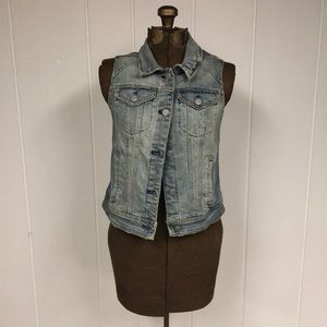 Pilcro Anthropologie denim vest size small